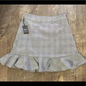 Plaid Mini Skirt size S NWT